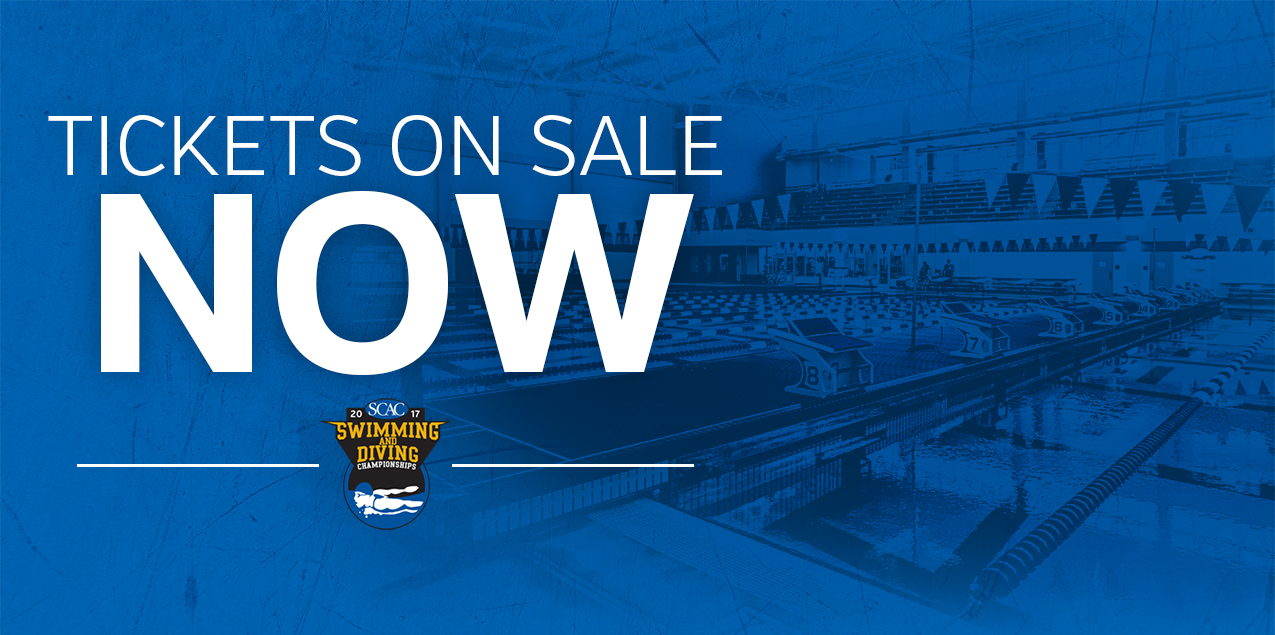 Tickets for SCAC Swimming & Diving Championships Now Available!