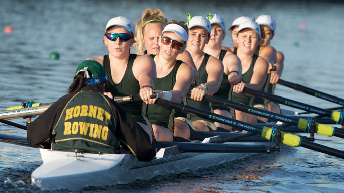 ROWING'S FIRST DAY OF THE LAKE NATOMA INVITATIONAL IN THE BOOKS