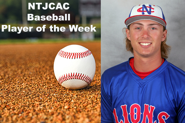 NTJCAC Baseball Player of the Week (Feb. 25 - March 3)