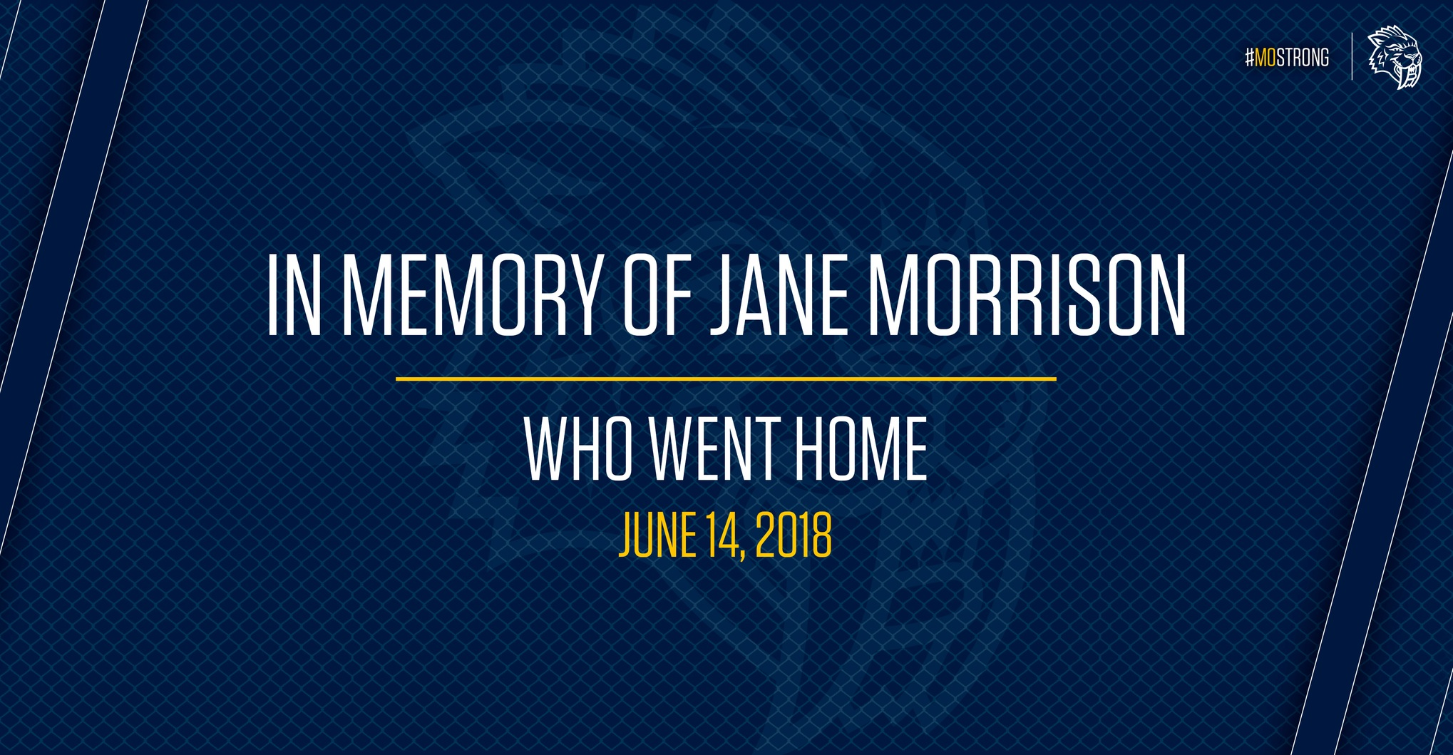 In Memory of Jane Morrison