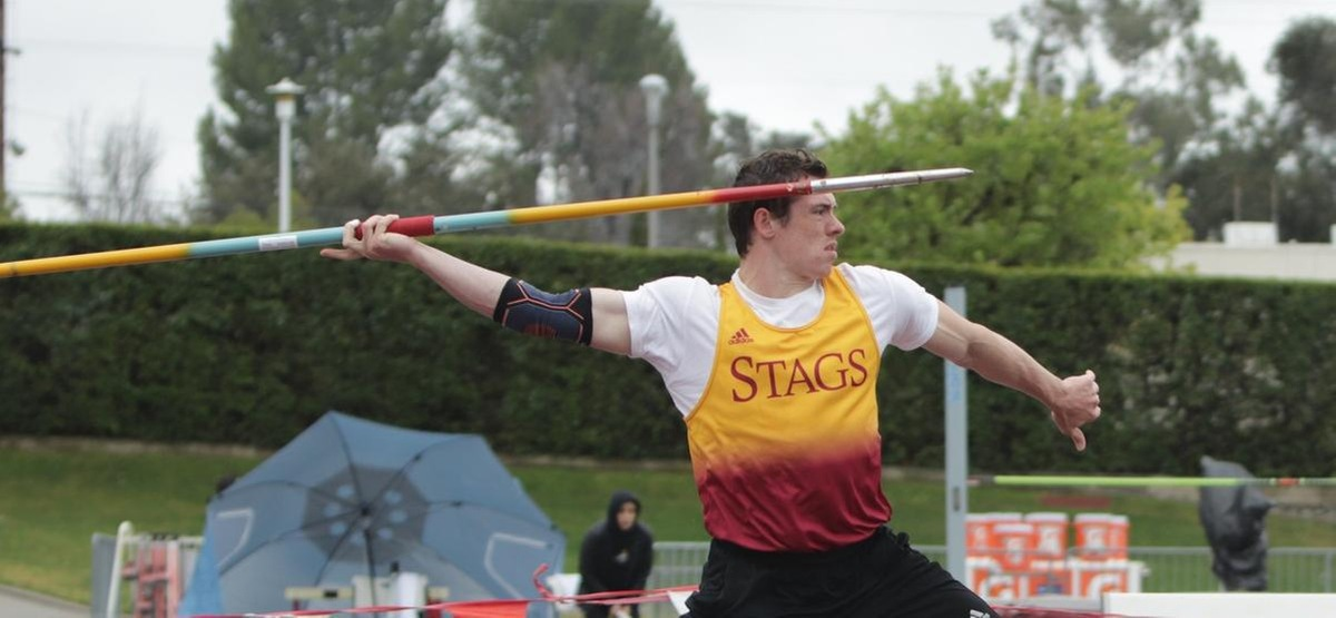 Maxwell Knowles throw of 185 feet was a personal best and moved him to No. 6 on the CMS javelin list