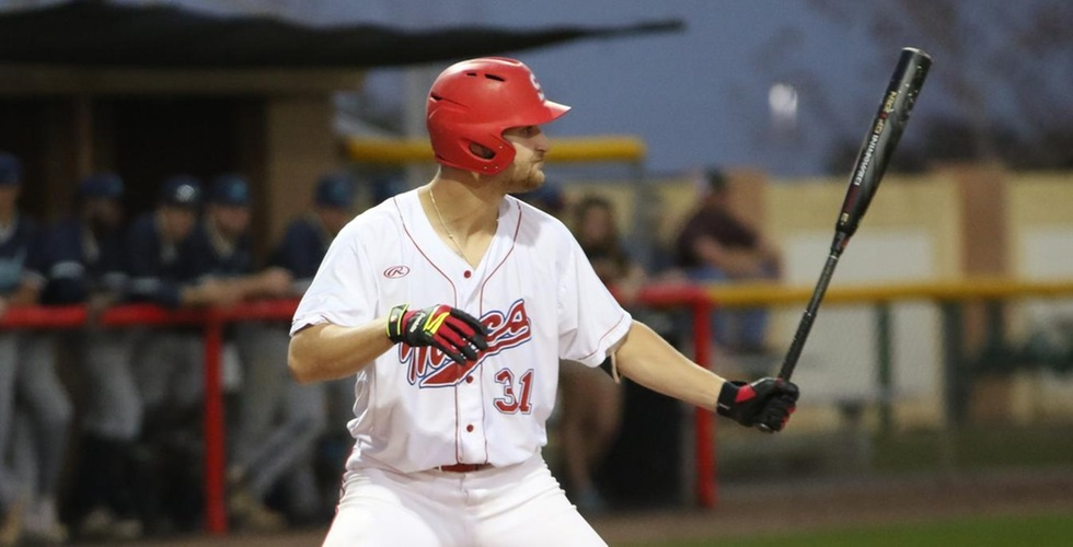 Zach Scott hit one of Florida Southern's two homers in a 6-4 win over Merrimack on Thursday.