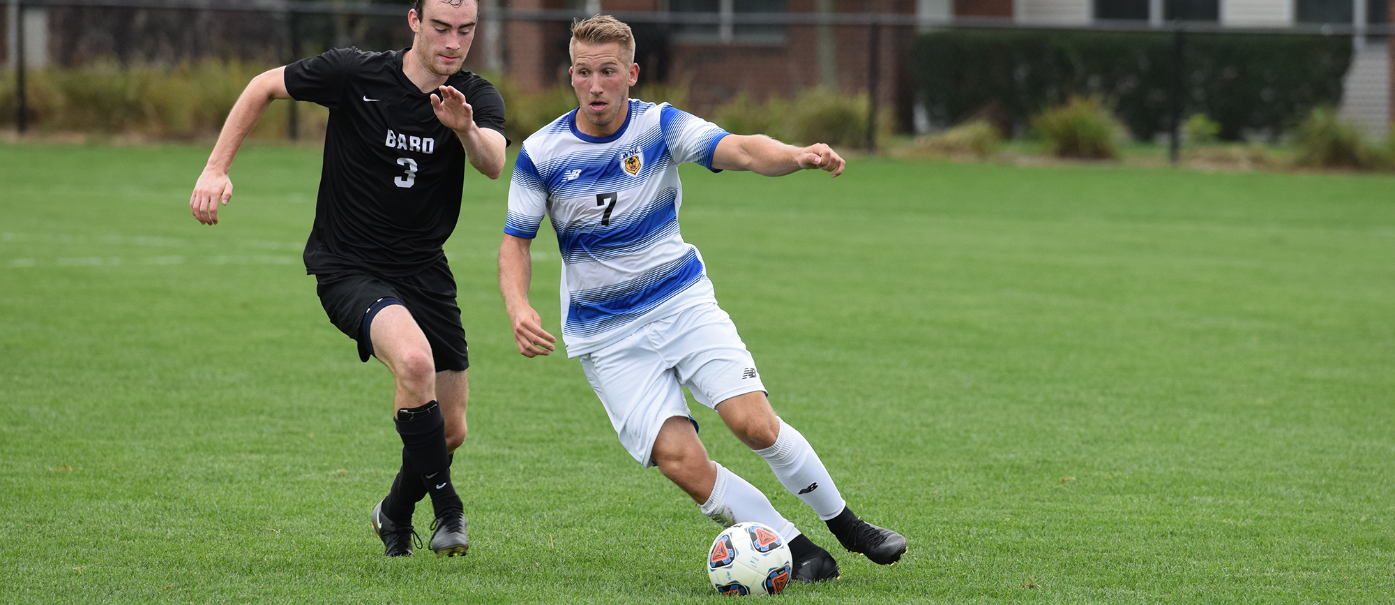 Senior Nick Liccardi scored his first goal of the season in Western New England's 3-1 loss to Bridgewater State on Friday. (Photo by Rachael Margossian)