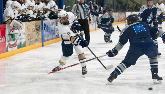 No. 6 Men's Hockey Handed First Loss by Falcons