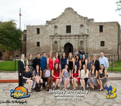 Women's Basketball outside the Alamo