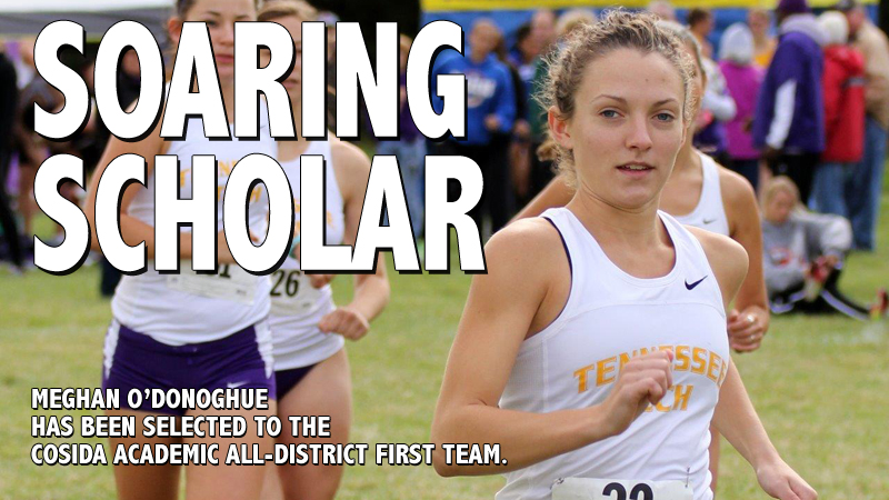 O'Donoghue names to the CoSIDA Academic All-District First Team.
