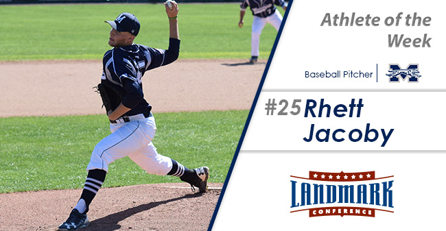 Rhett Jacoby '19 honored as Landmark Conference Baseball Pitcher of the Week.