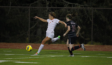 Soccer Wins Battle Against Pacific, 2-0