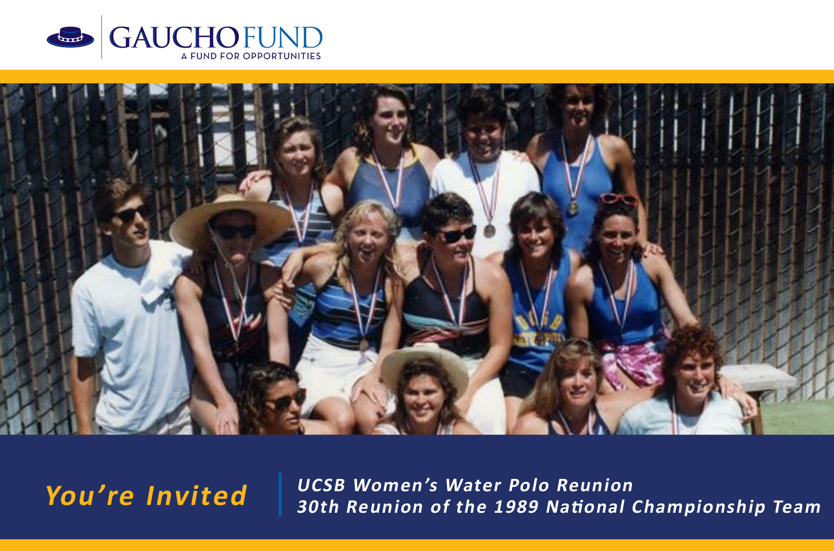 UCSB Women's Water Polo to Celebrate 1989 National Championship at Upcoming Alumni Reunion