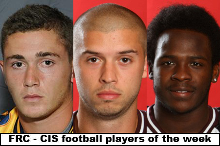 FRC - CIS football players of the week (#6): Chapdelaine, Holden, Taylor honoured