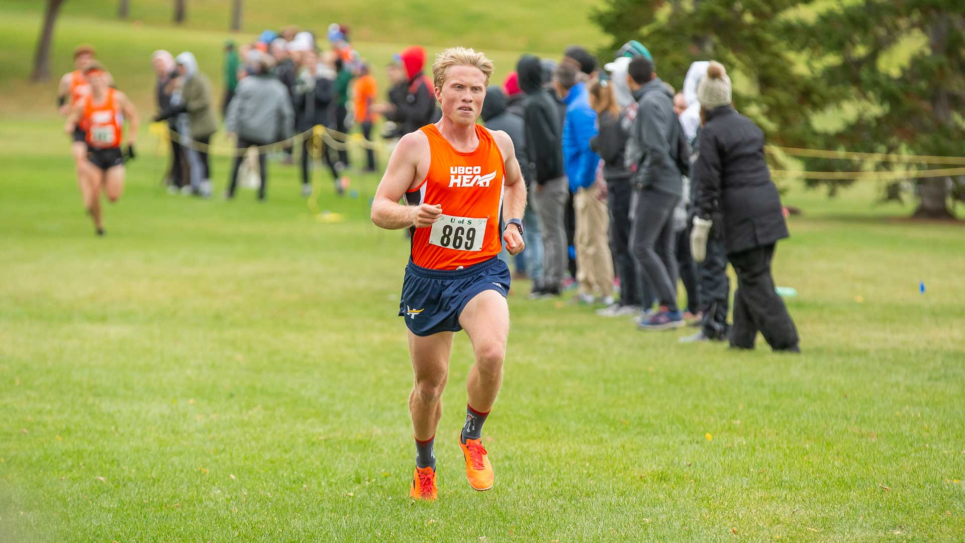 Mike Mitchell raced to 5th place in Saskatoon at the Canada West cross country event on Saturday (Sept. 28) (GetMyPhoto.ca)