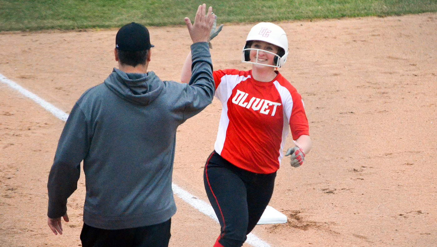Boyle's complete games and Blouin's bat help softball team sweep Alma, 7-0 and 5-3