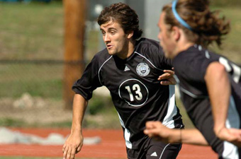 Late Batista goal leads men's soccer past Lasell, 1-0