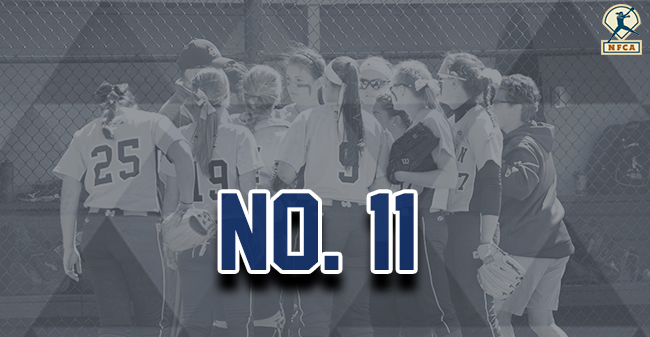 Moravian softball team ranked No. 11 in latest NFCA Division III Top 25 Poll.