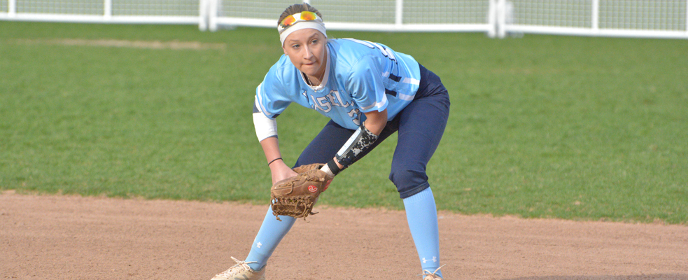 Softball Falls to Emmanuel in GNAC DH