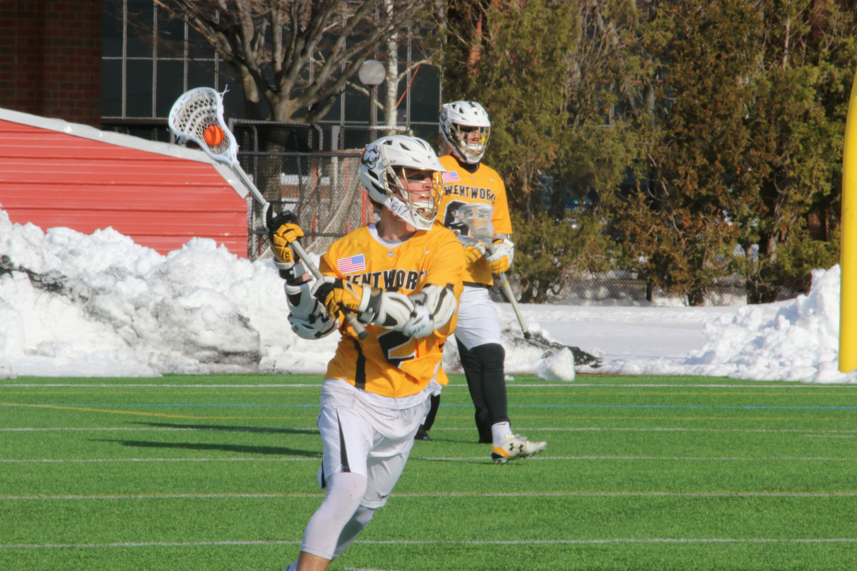 Strong First Half Lifts Men's Lacrosse Past Emerson