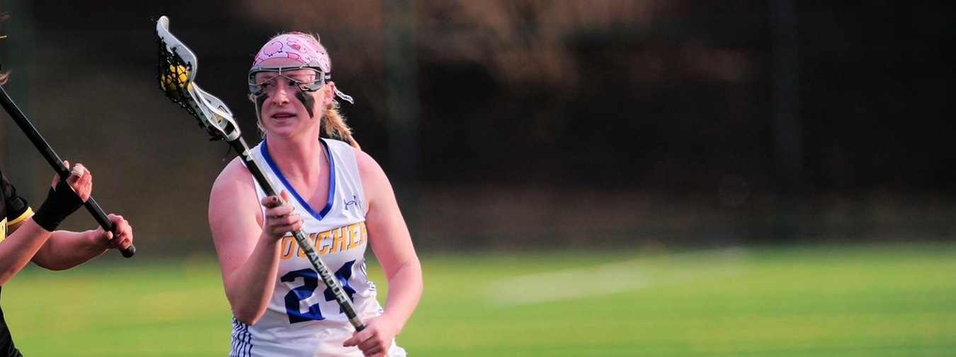 Stull Registers 100th Career Goal In Goucher Women's Lacrosse Landmark Conference Opener Against Moravian