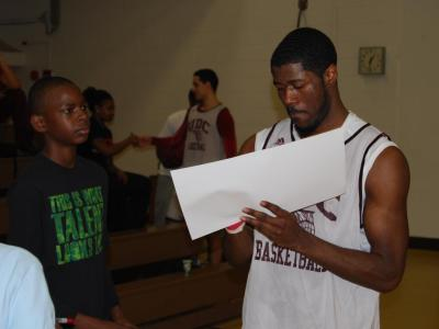 The University of the District of Columbia Men's Basketball Hosts Middle School Field Trip