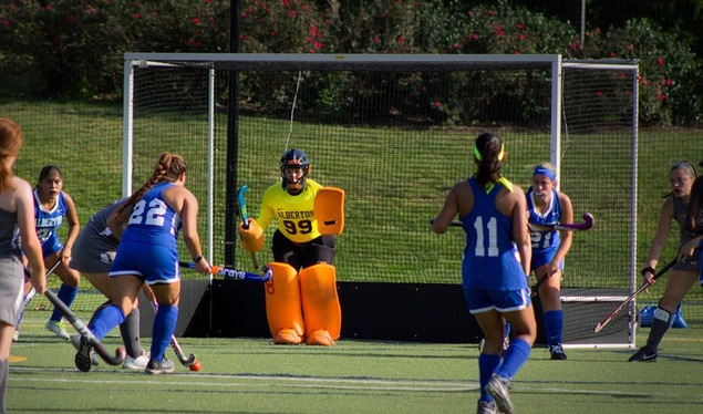 Field Hockey Shutout by Elms, 7-0