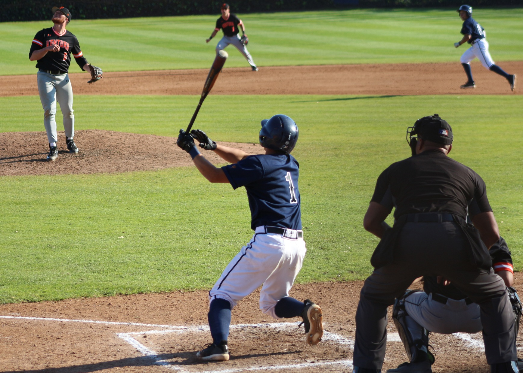 Teppei Fukuda goes yard, driving in 3 runs. Image: Richard Miranda