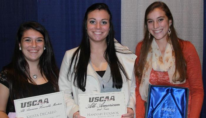 Muhleisen, Holmok, and DeCarlo Named All-Americans by USCAA