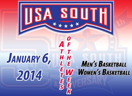 USA South Athletes of the Week - Jan. 6, 2014