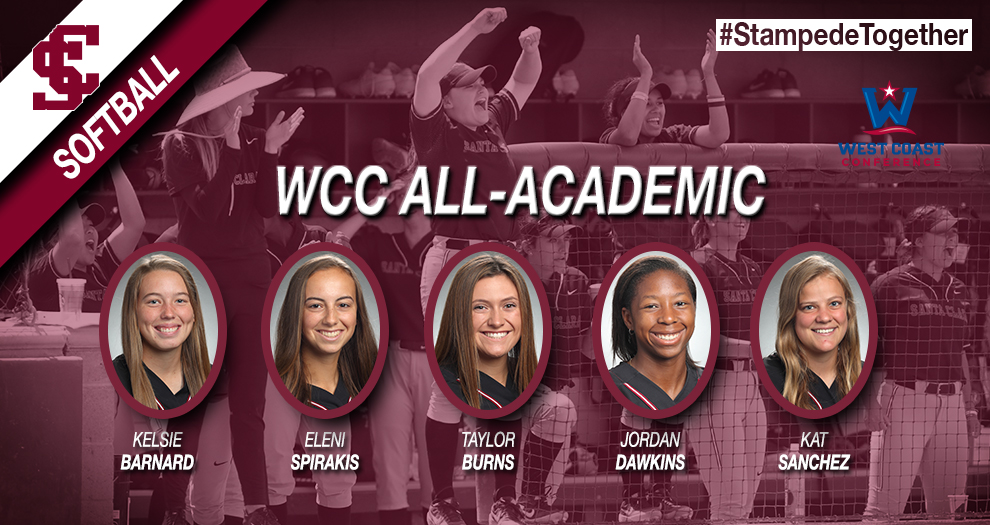 Softball Has Five Honored By WCC for Academic Work