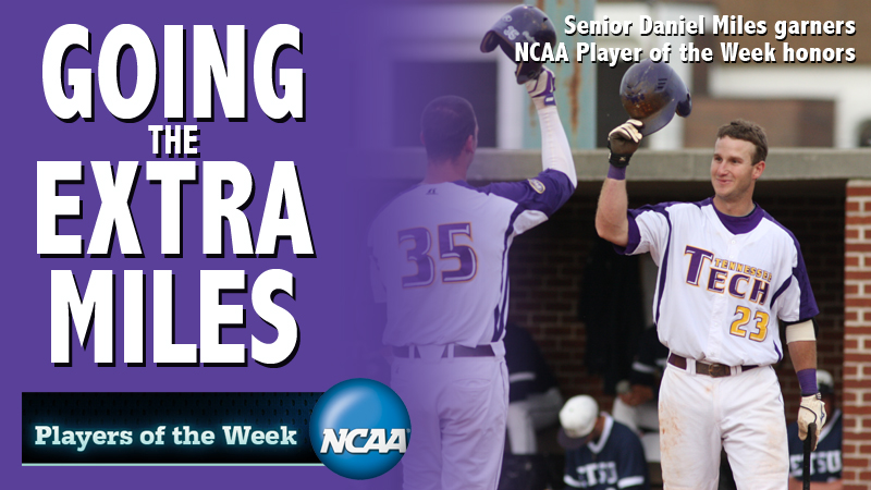 NCAA names third baseman Miles National Player of the Week