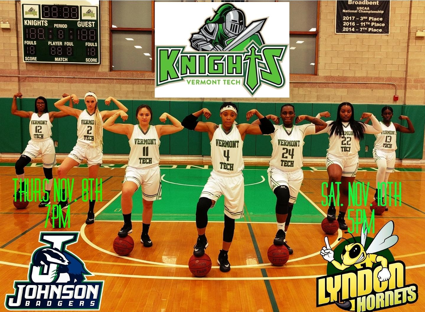 Lady Knights hold on to beat NVU-Johnson 81-72  at the Northern Vermont University Classic.