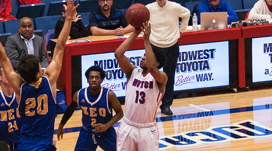Chris Giles scored 20 points in No. 9 Hutchinson's 111-83 victory over Spring Creek Academy on Friday in Great Bend.