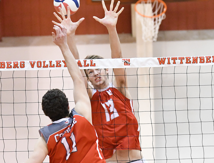 Men's Volleyball Drops AMCC Opener At Geneva