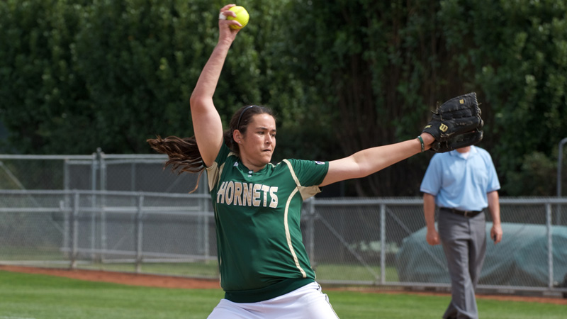 BROOKS THROWS A 2-HITTER TO LEAD SOFTBALL TO A 7-0 WIN OVER WEBER STATE