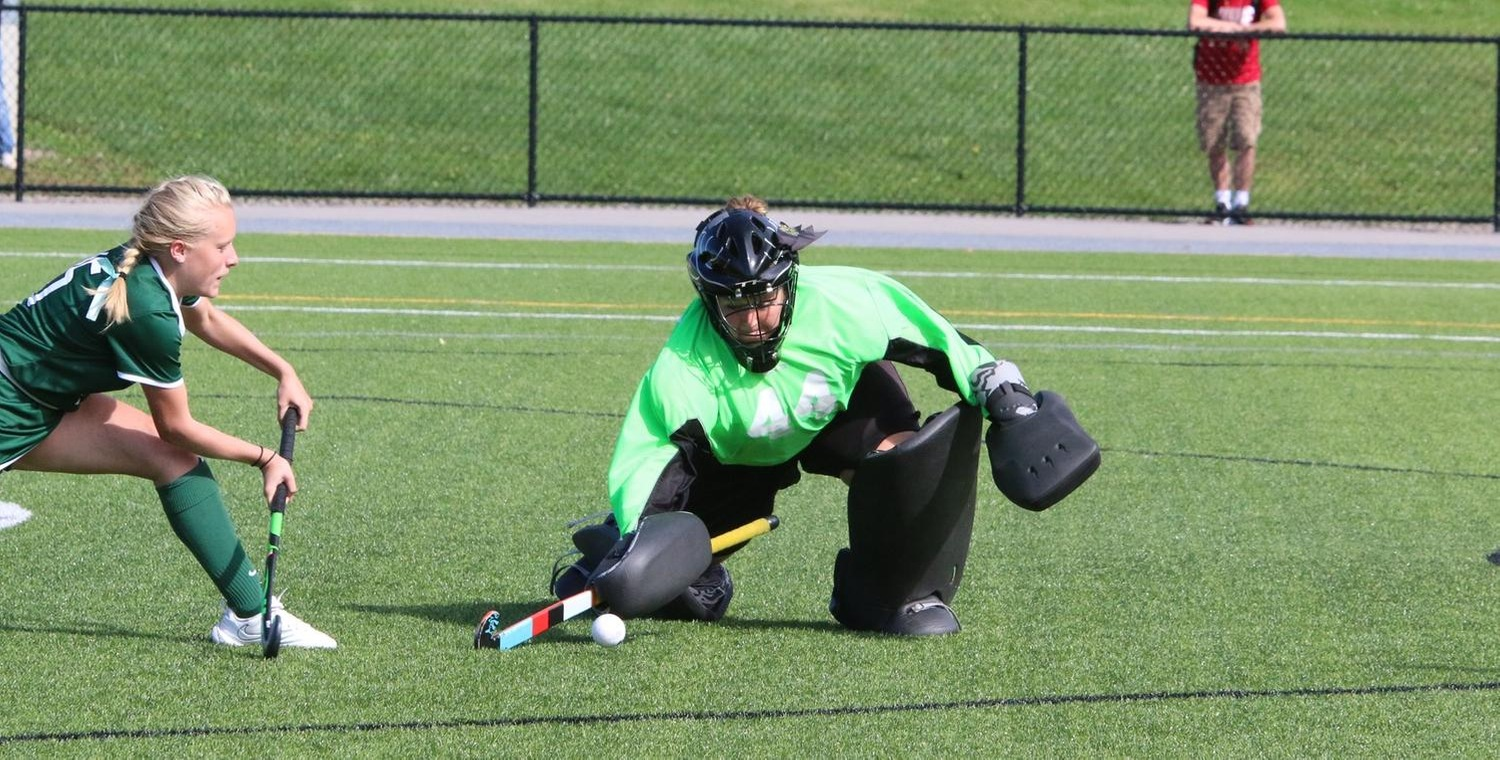 Kassidy Valentine (44) made a career-high 23 saves on Tuesday at Elmira