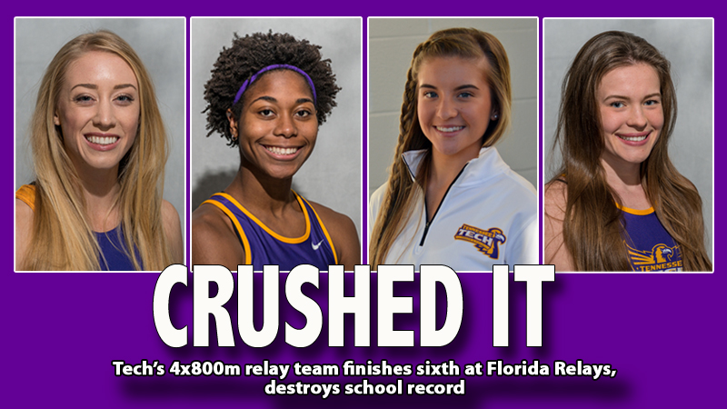 Tech adds 4x800 relay school record, finishes sixth at Florida Relays