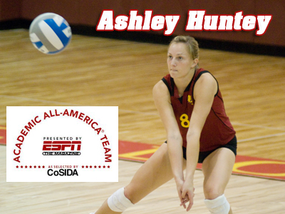 Ashley Huntey Garners Academic All-District Recognition
