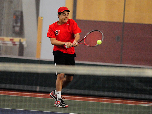 Men's tennis rolls to win over hosts in Puerto Rico