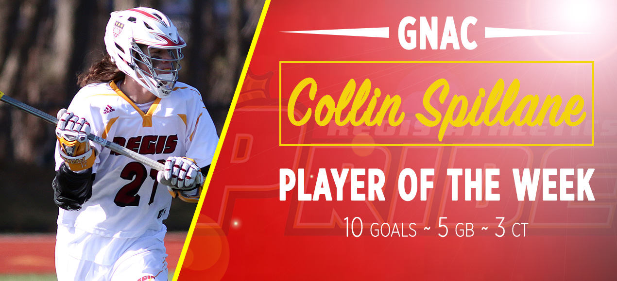Collin Spillane Named GNAC's First Men's Lacrosse Player of the Week