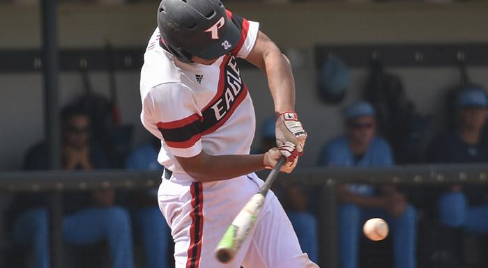 Isaiah Cullum homered and drove in three runs as the Eagles beat St. Pete 14-3. (Photo by Tom Hagerty, Polk State.)
