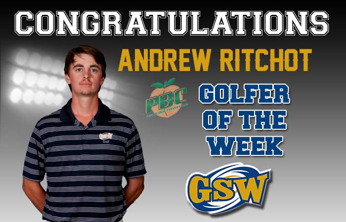 Andrew Ritchot Honored as the Peach Belt Conference Golfer of the Week
