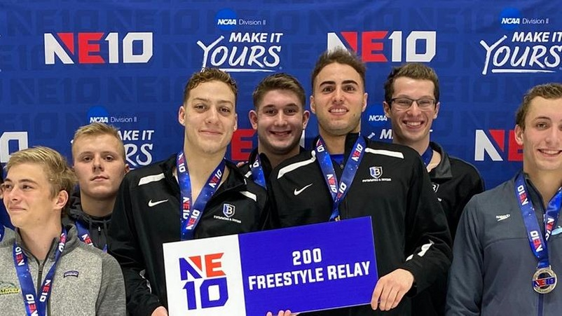 Northeast-10 Champions in the 200 free relay!