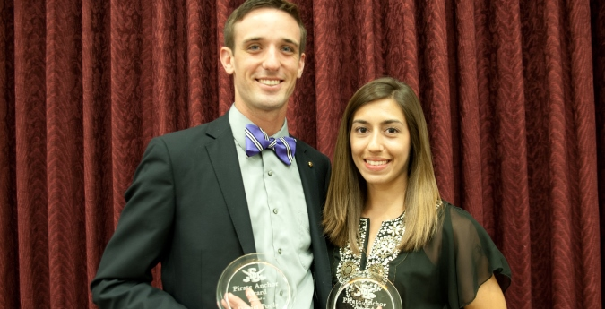Duarte, Poole selected at SAAC Pirate Anchor Award Winners