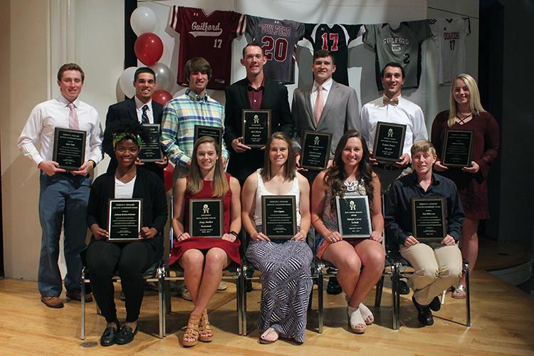2017 Guilford Athletics Department Award Winners (Emily Zegel '19 photo)
