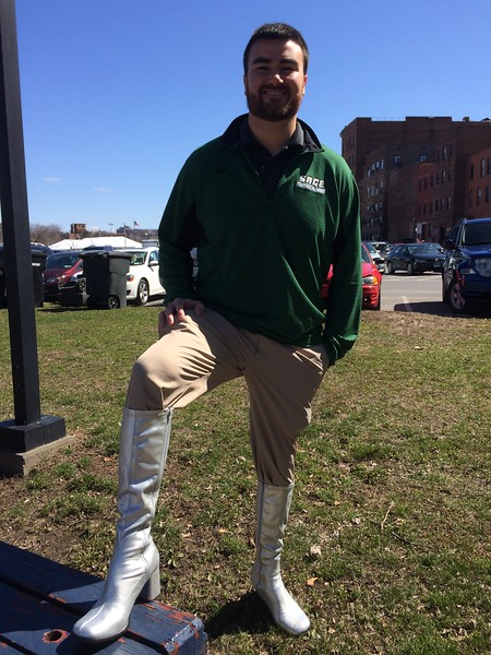 Sage community members participate in Troy's Walk a Mile in Her Shoes Event