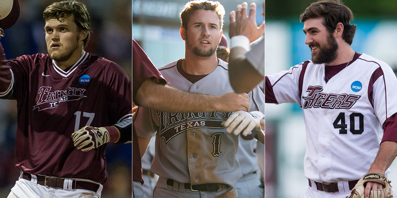 Trinity Trio Selected to NCAA Baseball Championship All-Tournament Team