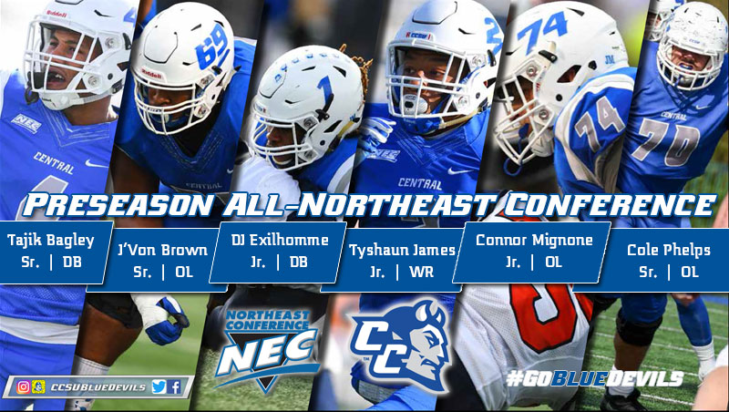 Football Tabbed Third; Six Blue Devils Named Preseason All-NEC