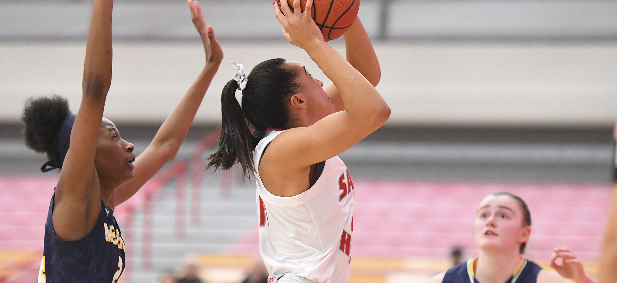 Women's Basketball Comes-From-Behind to Defeat Merrimack, 63-60, in NEC Opener