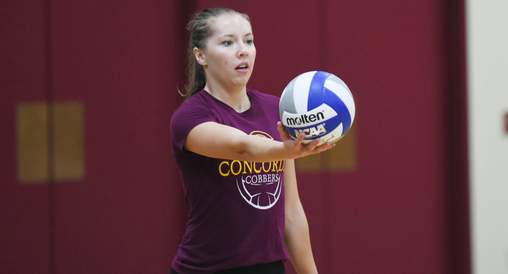 Senior Haley Cuppett led Concordia in kills and points at the season-opening Northwestern Invite.