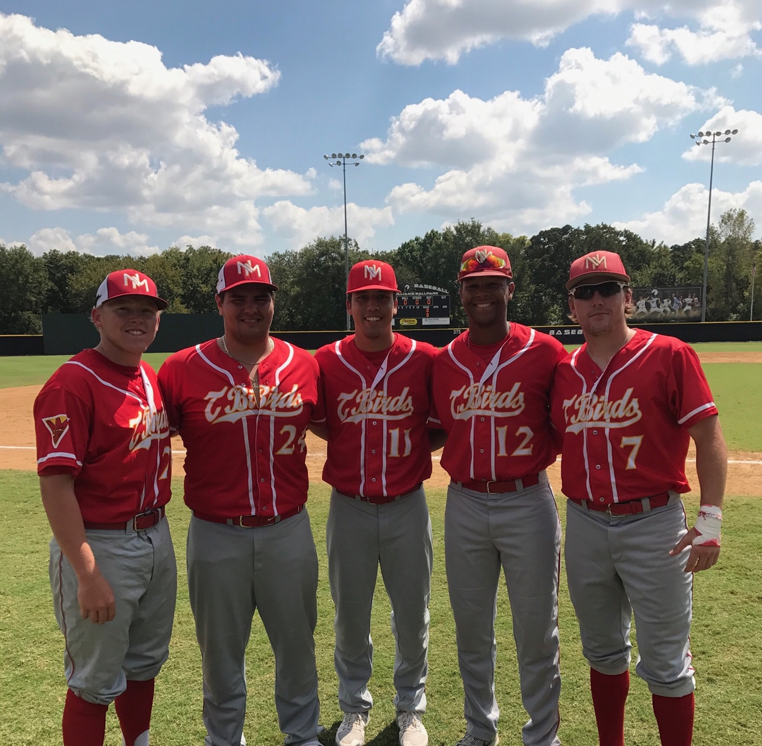 Five Represent NMJC at the All Star Baseball Game