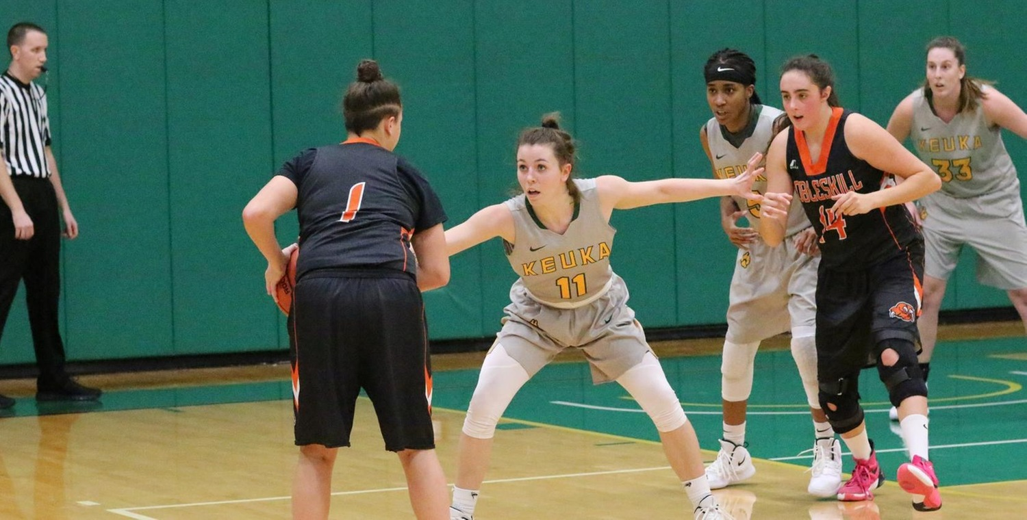 Brianna Legacy (11) led Keuka College with 12 points on Wednesday -- Photo by Ed Webber