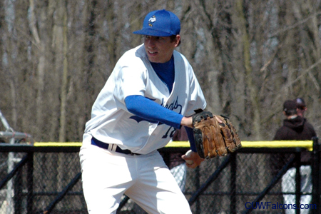 Scasny throws complete game, Baseball sweeps Crusaders